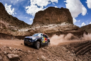 Dakar 2015, Team Mini: Al-Attiyah climbs high on Stage 10
