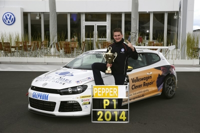"After winning the title in the Volkswagen Scirocco R-Cup at turbo speed: ""Iceman"" Pepper dreams of a career in the DTM"