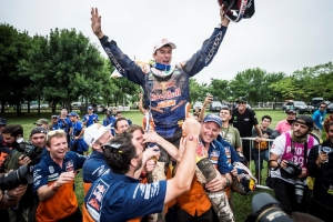 Triple crown of success for Red Bull-backed athletes at Dakar
